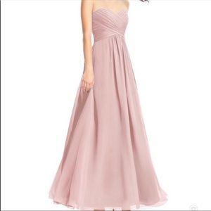 Dusty Rose Azazie Bridesmaid Dress - size 2